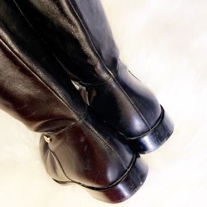 Cole Haan Shoes - COLE HAAN Colorblock Black Leather Tall Boots